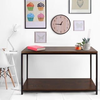 Carbon Loft Cohn Mocha Solid Wood Console Table