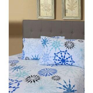 Flannel Snowflake Printed Sheet Set