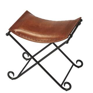 Butler Melton Brown Leather Stool