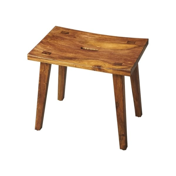 Fantastic Shop Butler Modern Rectangular Solid Acacia Wood Stool In Ncnpc Chair Design For Home Ncnpcorg