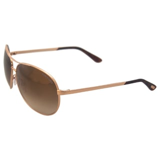 Tom Ford FT0035 Charles 28G - Rose Gold/Brown Sunglasses