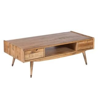 Hans Andersen Home Gaal Natural Wood 2-drawer Coffee Table