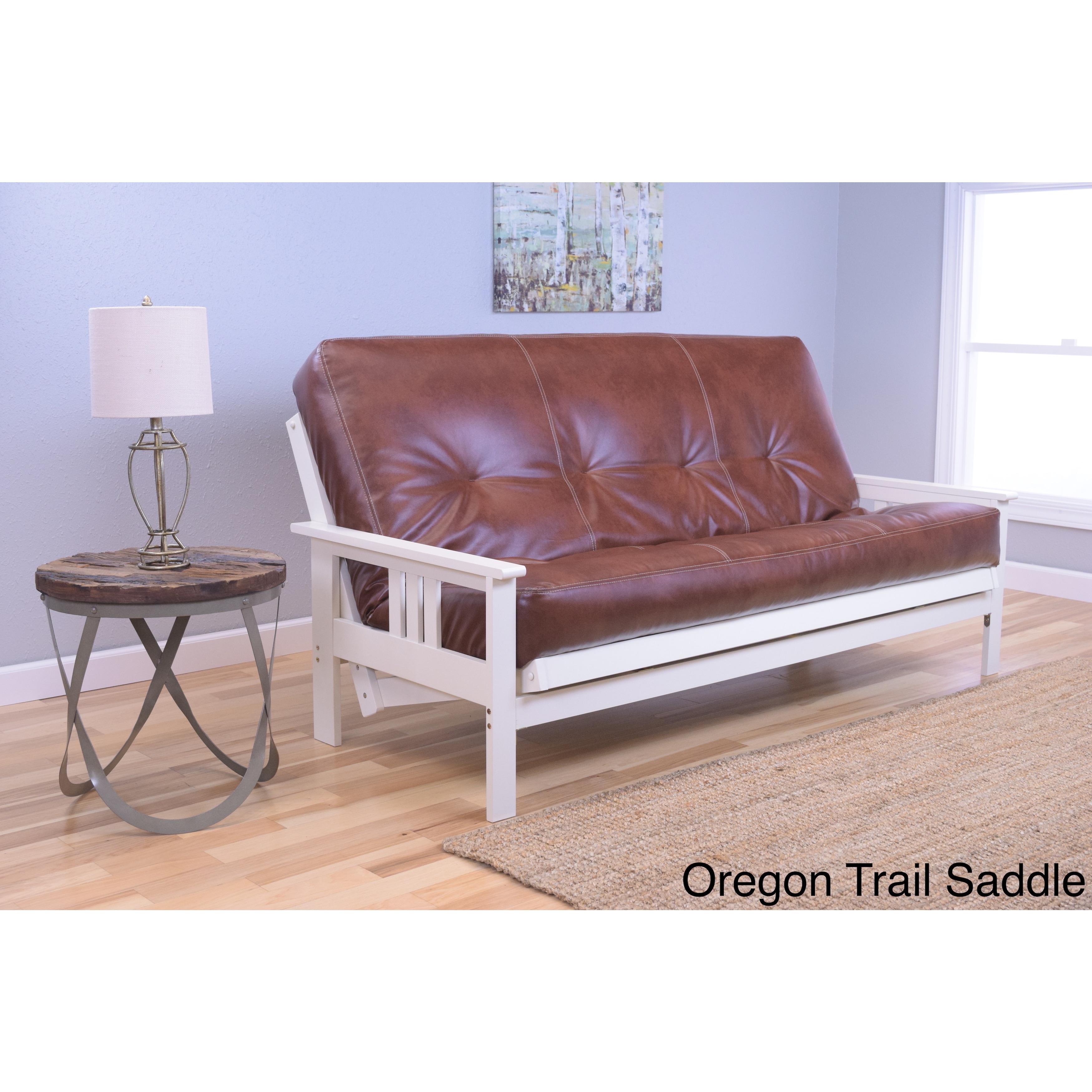 Somette Beli Mont Beige/Brown Fabric/Wood Futon (Oregon T...