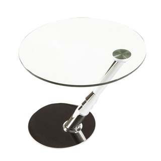 Hans Andersen Home Seinajoki Stainless Steel and Glass Side Table