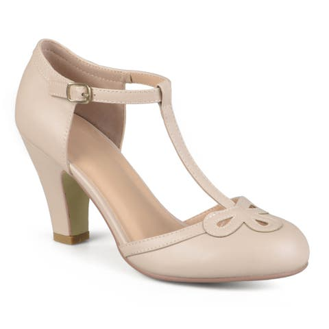 Journee Collection Women's 'Parley' T-strap Round Toe Mary Jane Pumps