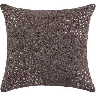 Mina Victory Luminescence Fully Beaded Lavender Throw Pillow by Nourison (20 x 20-inch)
