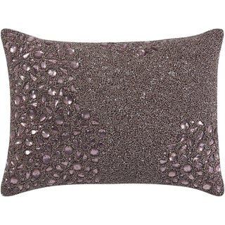 Mina Victory Luminescence Fully Beaded Lavender Throw Pillow by Nourison (10-Inch X 14-Inch)