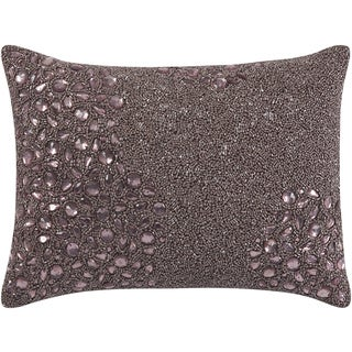 Mina Victory Luminescence Fully Beaded Lavender Throw Pillow by Nourison (10 x 14-inch)