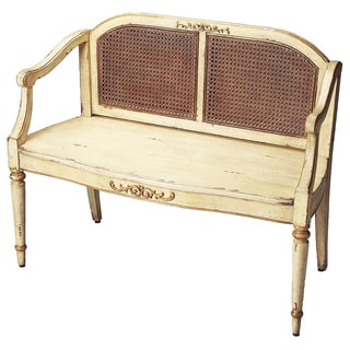Butler Grayson Cream and Gold Painted Bench