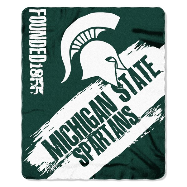 Multicolor Polyester Michigan State Spartans Painted Fleece Throw