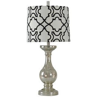 Journee Home 'Madeline' 31-inch Glass Table Lamp