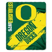 Multi-color Polyester Oregon Ducks Painted Fleece Throw