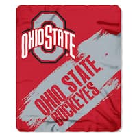 COL 031 Ohio State Multicolored Polyester Painted Fleece Blanket
