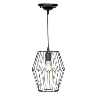 Journee Home 'Birdcage' 11-inch Matte Hard Wired Pendant Lamp