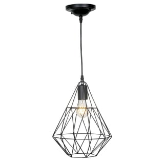 Journee Home 'Birdcage' 14-inch Matte Hard Wired Pendant Lamp