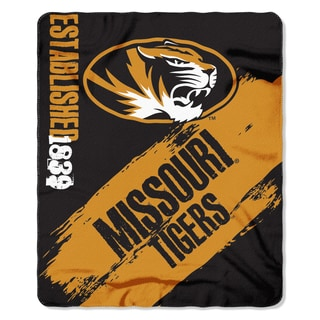 Multi-color Polyester Missouri Tigers Painted Fleece Throw