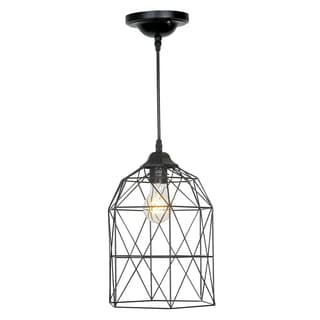 Journee Home 'Birdcage' 13-inch Matte Hard Wired Pendant Lamp
