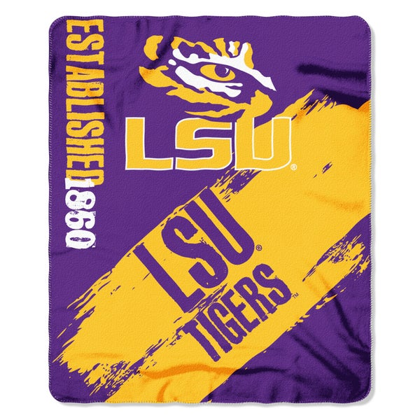 COL 48 LSU Multicolored Painted Fleece Blanket Free Shipping On Extraordinary Lsu Bedroom Style Painting