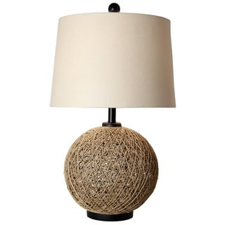 Journee Home 'Malacca City' 29 inch Natural Rattan Ball Table Lamp