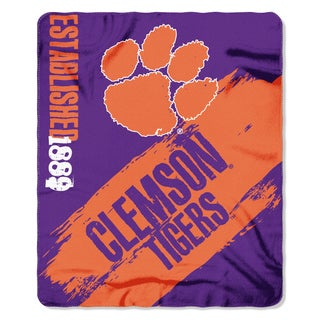 COL 031 Clemson Multicolor Polyester Painted Fleece