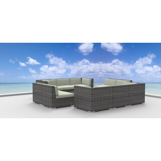 Urban Furnishing Bermuda Multicolored Wicker/Polyester/Aluminum Patio Sofa  Sectional (11 Piece