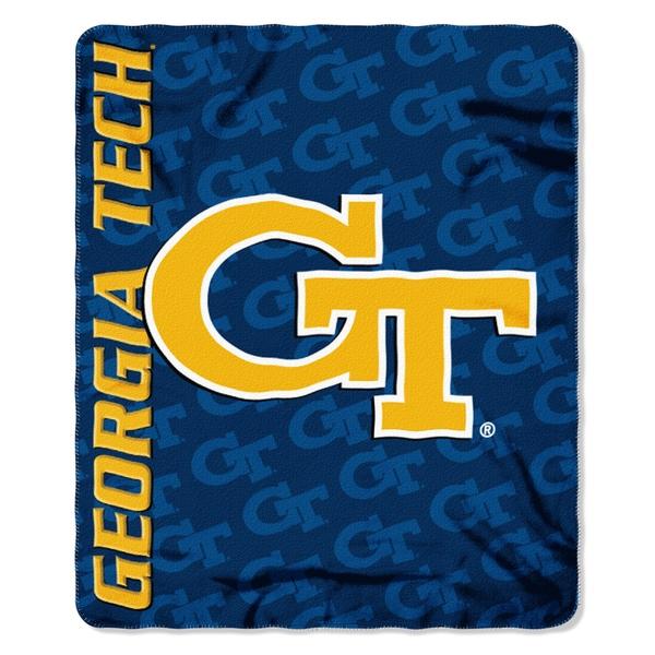 COL 031 Polyester Georgia Tech Mark Fleece Throw Blanket
