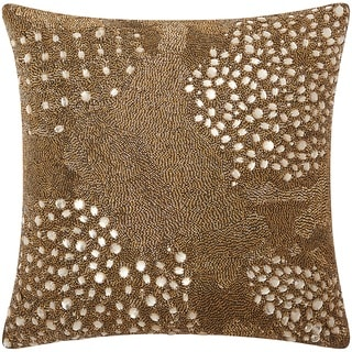 Mina Victory Luminescence Fully Beaded Amber Throw Pillow by Nourison (20-Inch X 20-Inch)