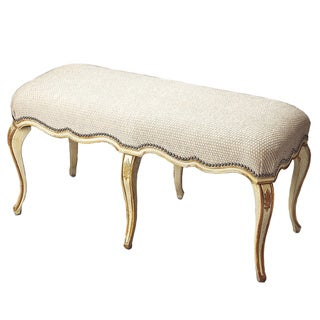 Butler Michelline Cream and Gold Painted Bench