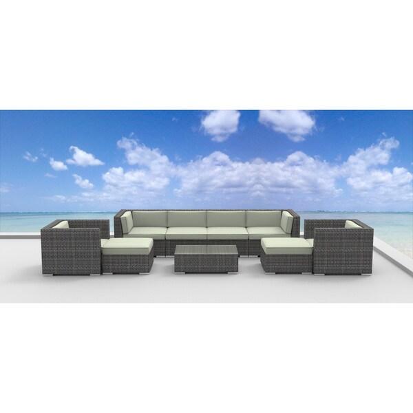 Urban furnishing fiji 9 piece modern outdoor backyard for Outdoor furniture 0 finance