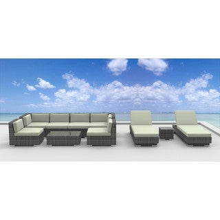 Urban Furnishing IBIZA Wicker Rattan 10-piece Outdoor Sectional Sofa Set