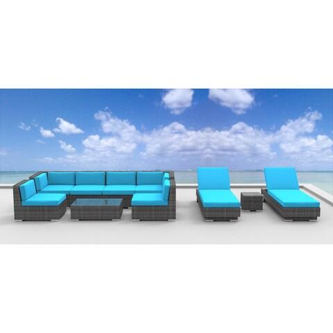 Urban Furnishing IBIZA Wicker Rattan 10-piece Outdoor Sectional Sofa Set