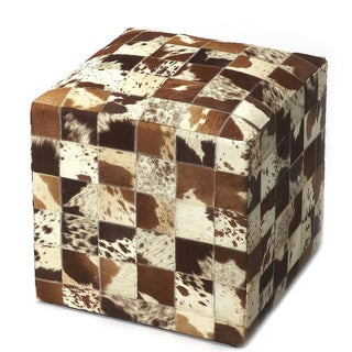Butler San Angelo Hair-on-hide Square Pouffe