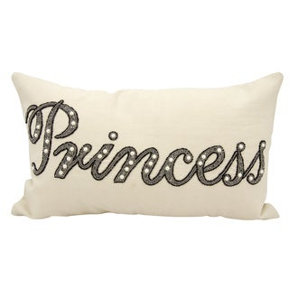 Mina Victory Luminescence Beaded Princess Champagne Throw Pillow by Nourison (12 x 20-inch)