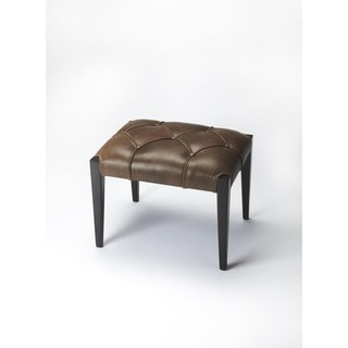 Butler Brown Leather Bunching Ottoman