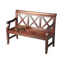 Handmade Butler Gerrit Plantation Cherry Wood Bench (China)