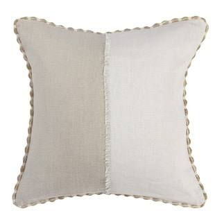 Kosas Home Monica Ivory/Natural Linen 18-inch x 18-inch Throw Pillow