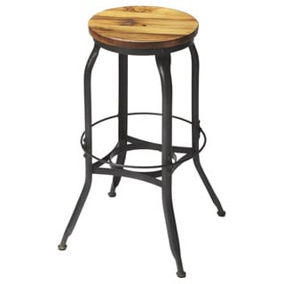 Butler Iron and Wood Industrial Bar Stool