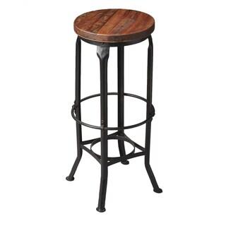 Butler Abbott Multicolor Iron/Wood Industrial Chic Bar Stool