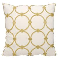 Mina Victory Luminescence Circles Light Gold Throw Pillow by Nourison (20 x 20-inch)