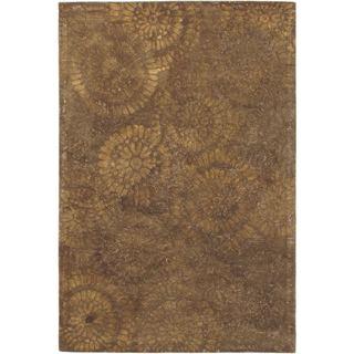 eCarpetGallery Handmade Mod Elegance Brown Wool Rug (5' x 8')
