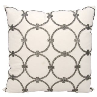 Mina Victory Luminescence Circles Pewter Throw Pillow by Nourison (20-Inch X 20-Inch)