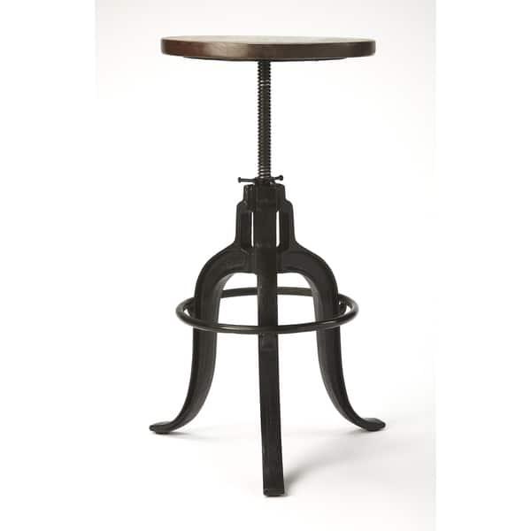Admirable Shop Butler Gladney Iron Revolving Bar Stool Free Shipping Machost Co Dining Chair Design Ideas Machostcouk
