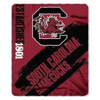 Multi-color Polyester South Carolina Painted Fleece Throw