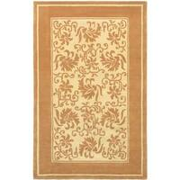 eCarpetGallery Handmade Brown/Yellow Wool Rug (5' x 8') - 5' x 8'