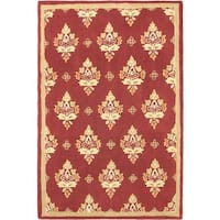 ecarpetgallery Red/Copper/Khaki/Gold/Green Cotton, Wool Hand-tufted Rug (6'0 x 9'0)