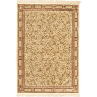 eCarpetGallery Persian Yellow Viscose Rug (4'7 x 6'7)