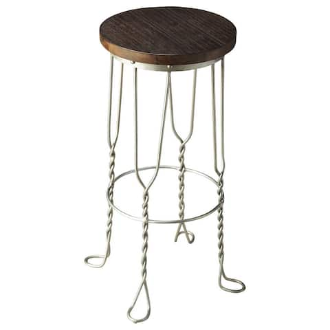 Butler Metalworks Multicolored Iron/ Wood Bar Stool