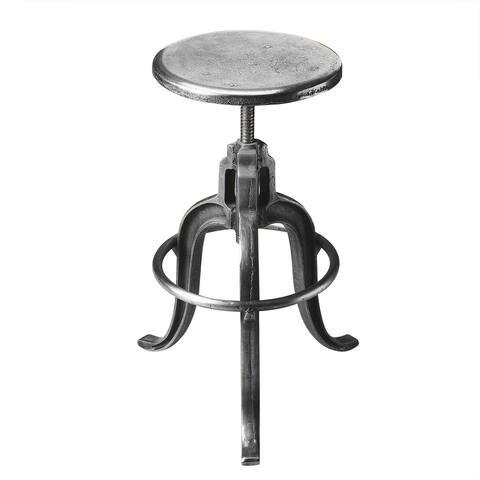 Handmade Butler Parnell Iron Adjustable Swivel Bar Stool (India)