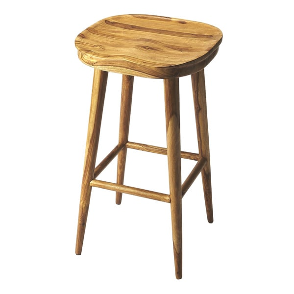 Handmade Butler Richmond Brown Wood Backless Bar Stool India
