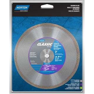 "Norton 02788 7"" Dry Or Wet Cutting Continuous Rim Saw Blade"